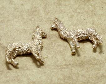 Alpaca Jewelry, Alpaca  Earrings,  14kt. gold  Huacaya Alpaca Earrings