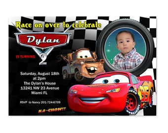 Disney Cars Birthday Invitation - Printable or Printed