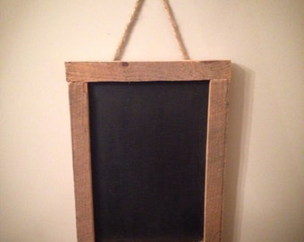 Vertical Chalkboard made from Reclaimed Barn Wood