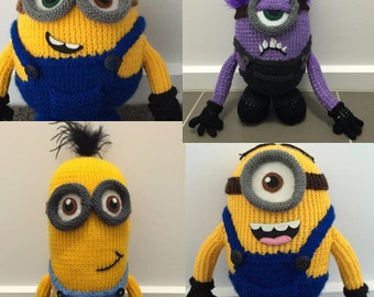 All Four Minion Knitting Patterns PDF