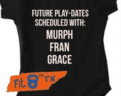 Crossfit Baby FUTURE PLAYDATES Scheduled with Murph, Fran and Grace Onesie Romper or T-shirt