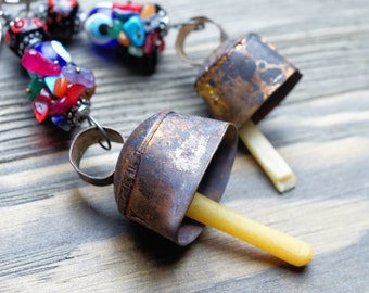 Vintage bell keychain,Cute keychain,Mini Bell Keychain,Cow bell key chain,Bag accessories,Tribal key chain,Free shipping