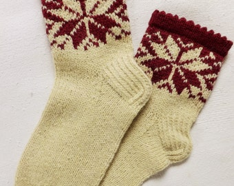 Wool socks Womens socks Handknit socks Ornament