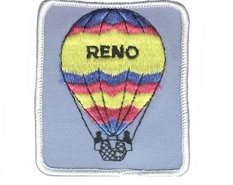 Vintage Reno Hot Air Balloon Patch - Nevada (Iron on)