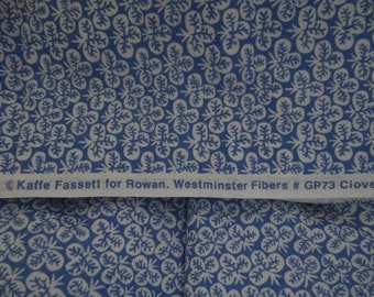 Kaffe Fassett Clover Blue GP73, Cotton Woven Fabric, 1/2 yd