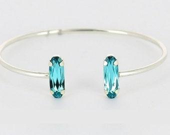Silver Bracelet & Swarovski crystals