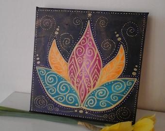 Lotus flower painting,MADE TO ORDER,lotus flower,spiritual art,spiritual painting,colourful art,lotus,