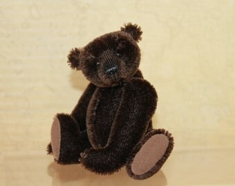 OOAK Miniature Mohair Artist Teddy Bear from Anibec Studio