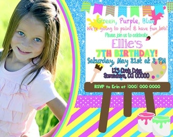 Paint Party Invitation with Picture