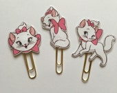 Marie Cat Double Sided Planner Clip - Made to Order