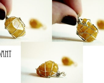 Golden Quartz Pendant