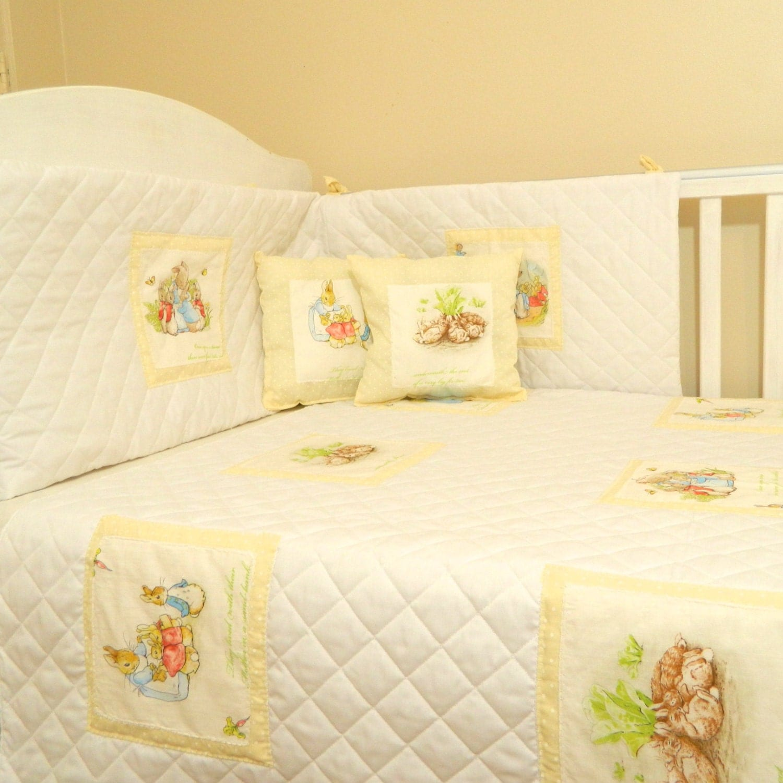 cream white dotty beatrix potter peter rabbit baby crib zoom