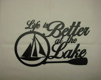 Life is Better at the Lake Metal Wall Decor