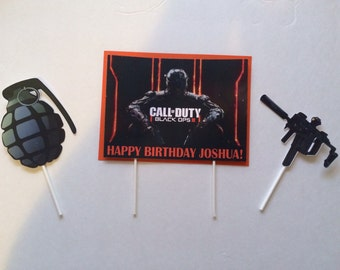 Call of Duty cake topper - we can do any theme!