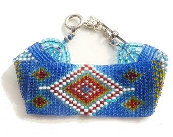 Native American  bracelet seed beads