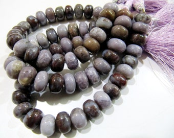 Natural Blood Agate Smooth Rondelle Beads , Purple Grey Agate Beads , Far Size Natural Jade Beads, Sold per Strand 8 inch long, Size 11-12mm