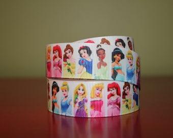 """PRINCESSES 7/8"""" Printed Grosgrain Ribbon Trim"""
