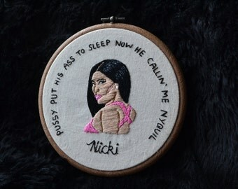 Nicki Minaj embroidery hoop