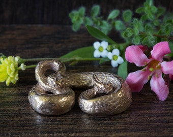 Bronze Crotalus Rattlesnake Mini Sculpture