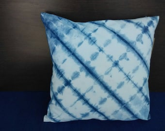 Natural Indigo SHIBORI Cushion in cotton