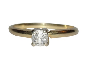 Victorian 14 kt Gold Diamond Ring .30 ct