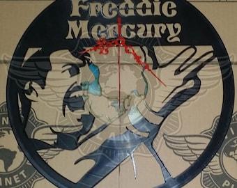Vinyl Wall Clock FREDDIE MERCURY - QUEEN
