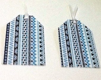 8 Aztec Print Gift/Thank You Tags
