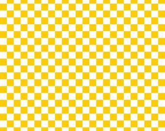 Orange Yellow Checkered Cardstock Paper