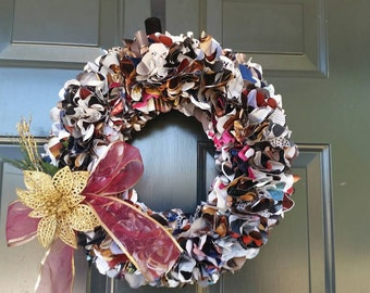 Up Cycled Holiday Wreath ITEM#  Ups-cycle-multi season