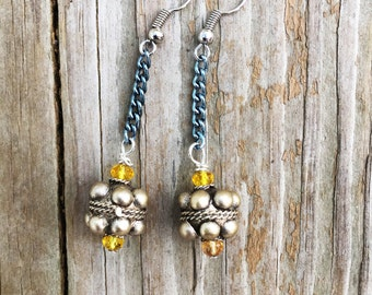 Ball and Chain Earrings