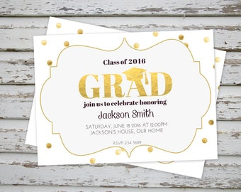 Graduation Party invitation, Graduation announcement, Grad Announcement, High School, College party invitation Printable