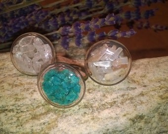 Mineral Ring MRR1 - Custom Made- your choice of gemstones and minerals