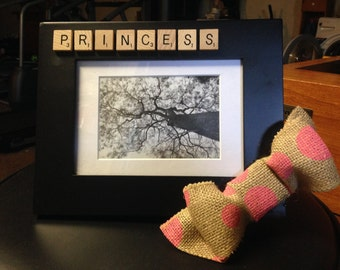 Princess Scrabble Piece 5x7 Picture frame