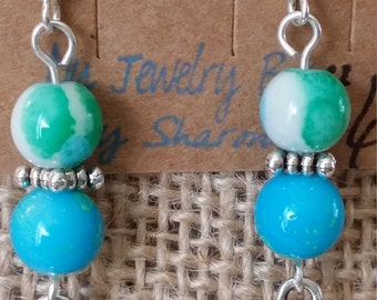 Cup Cake Dangle Fish Hook Earrings