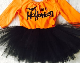 This is Halloween tutu, dress romper, romper tutu, halloween items, halloween clothes, baby clothes