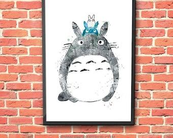 Totoro Poster Etsy