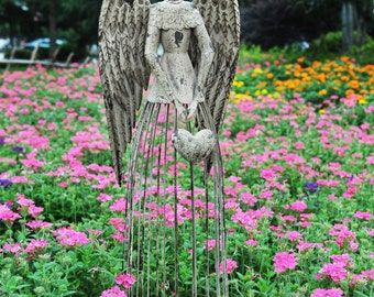Items similar to Garden Angel Garden Statue Angel Statue