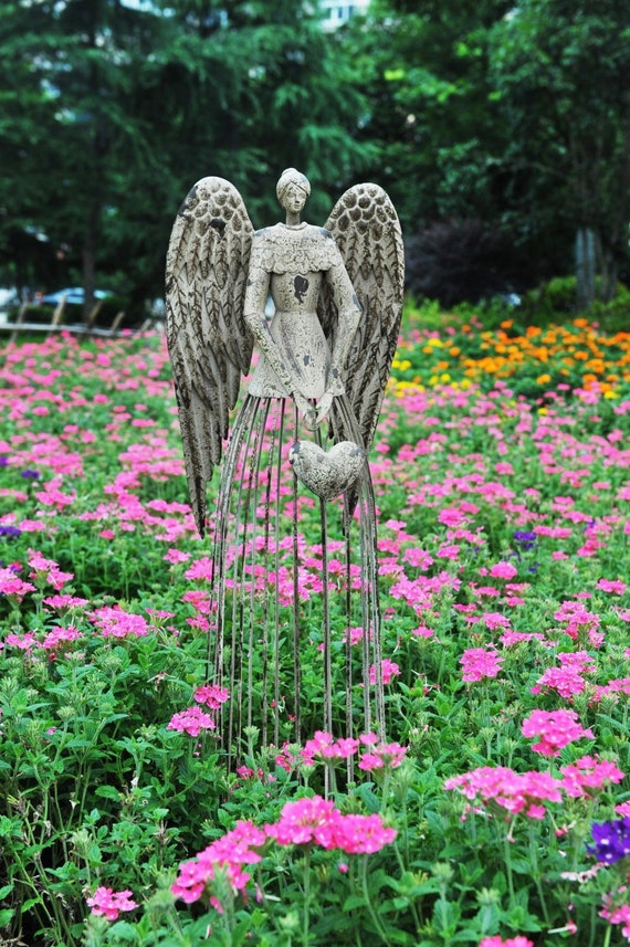 garden angel garden statue angel statue outdoor garden. Black Bedroom Furniture Sets. Home Design Ideas