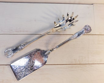 Sale 30% Off - Vintage Sheffield Silver Company Silver Plated Serving Utensils, Italy, Wedding Serving