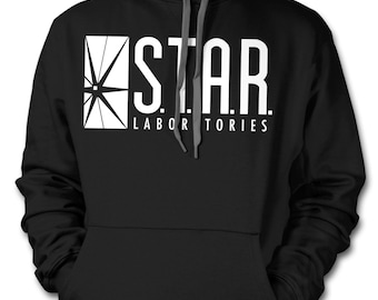 S.T.A.R. Laboratories Ring Spun Hoodie based on DC The Flash