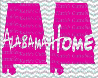 Alabama Home Name Deign .SVG/.DXF/.EPS and .png Files for EveryVinyl Cutting Machine