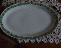 Vintage Colditz Porcelain Oval Plate