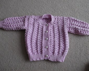 hand knitted babies cardigan/ jumper
