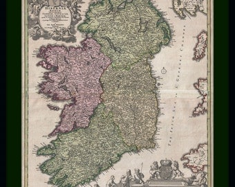 Ireland Vintage Map Poster
