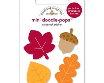 Doodlebug Doodle-Pops 3D Stickers~Leaves Mini