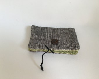 Small cardwallet in green and grey