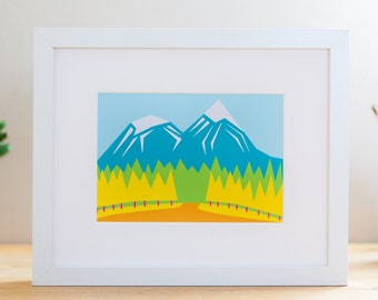 "Spring Mountains // 8x10"" Archival Print"