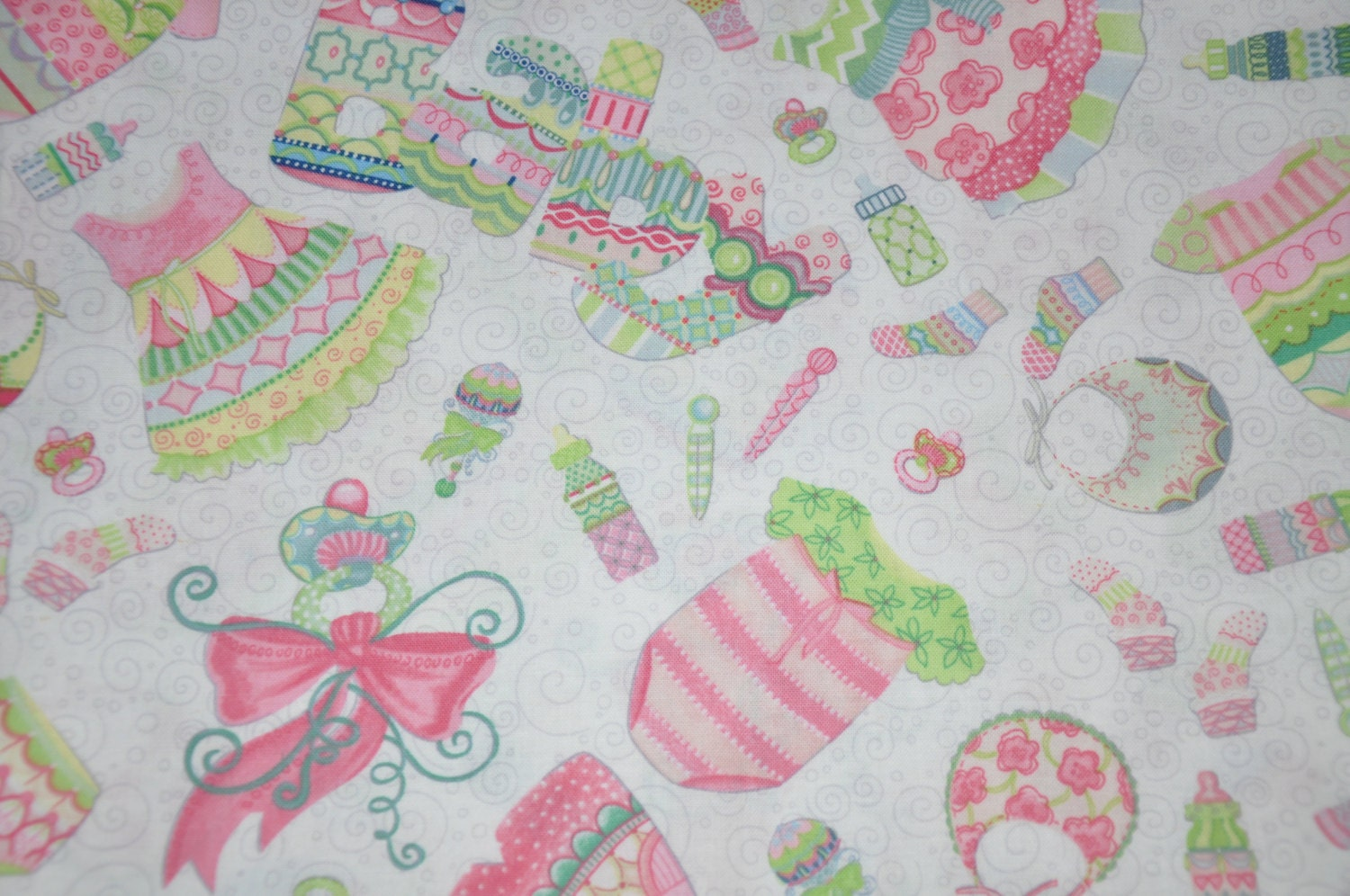 New one yard of baby girl nursery 100 cotton quilt fabric for Baby nursery fabric
