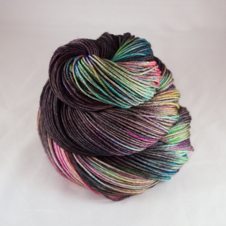 Hand Dyed Sock Yarn hand dyed wool variegated sock yarn