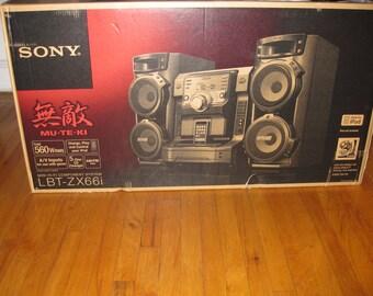 New Sony lbt-zx66i Muteki Hi-Fi STEREO Music System iPod Dock Changer CD